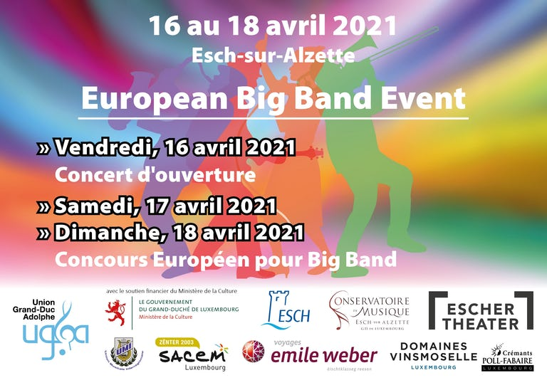 2021 Big Band Event Flyer Preannonce Web