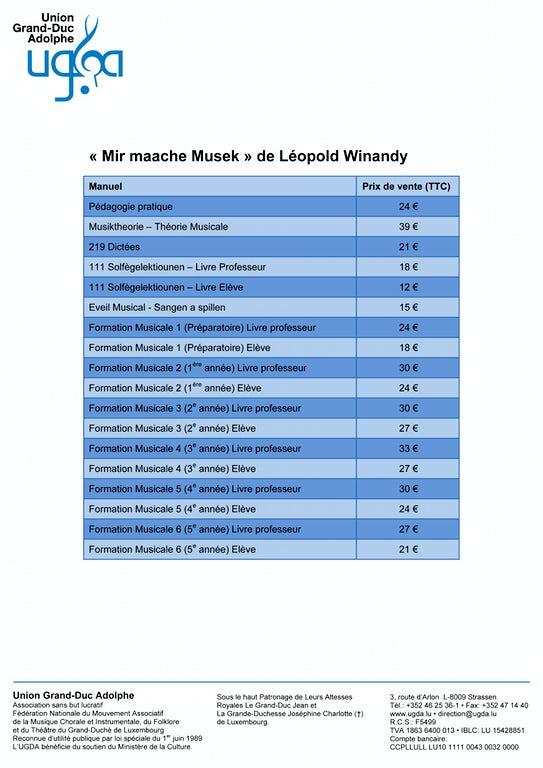 Mir Maache Musek Liste Des Prix